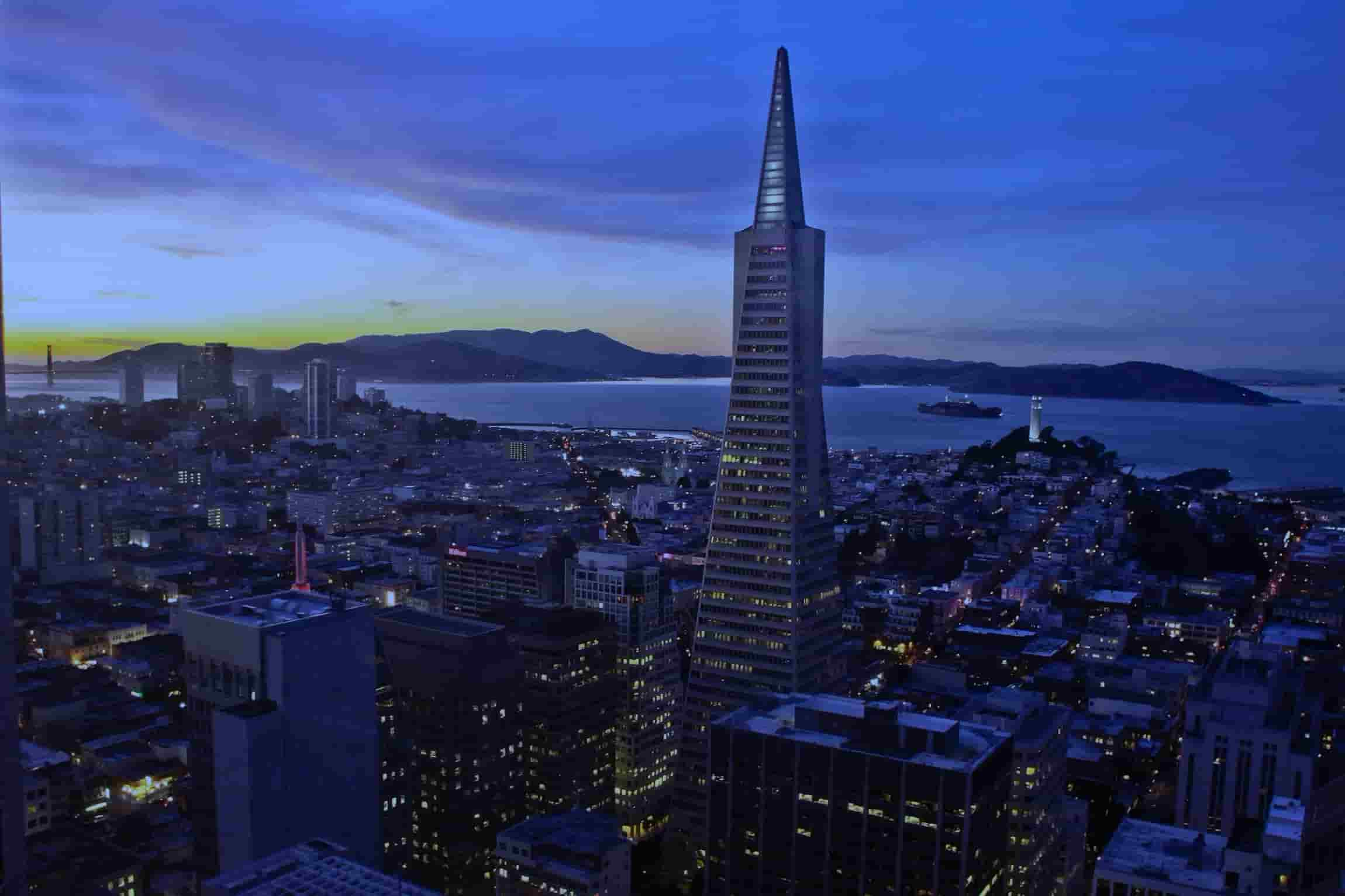 San Francisco Transamerica Building Aerial View